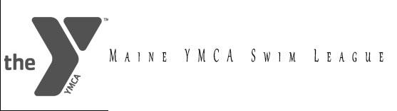 Maine YMCA Swimming Logo